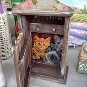 """Для дома и интерьера ручной работы. Ярмарка Мастеров - ручная работа Ключница """"Кошки дома"""". Handmade."""