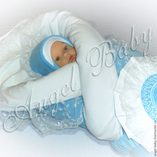"""Для новорожденных, ручной работы. Ярмарка Мастеров - ручная работа. Купить """"Маленький принц"""" (бирюзовый) комплект на выписку осень, зима. Handmade."""