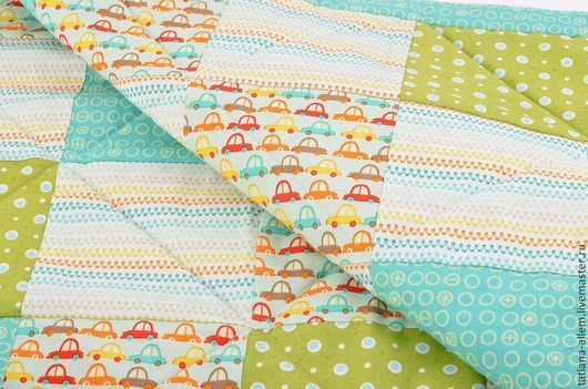 Пледы и одеяла ручной работы. Ярмарка Мастеров - ручная работа. Купить Детское одеяло для мальчика. Печворк. Handmade. Печворк, одеялко