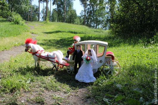 Коллекционные куклы ручной работы. Ярмарка Мастеров - ручная работа. Купить Свадебный экипаж (миниатюра). Handmade. Свадьба, куклы на свадьбу