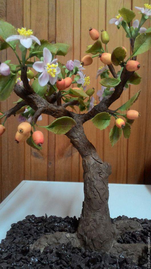 """Бонсай ручной работы. Ярмарка Мастеров - ручная работа. Купить Бонсай """"От рассвета до..."""". Handmade. Комбинированный, цветущая яблоня"""