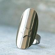 Кольца ручной работы. Ярмарка Мастеров - ручная работа Кольцо из титана, кольцо титан, широкое кольцо, кольцо со звездой. Handmade.
