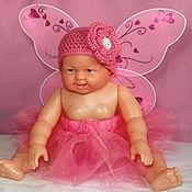 Работы для детей, ручной работы. Ярмарка Мастеров - ручная работа костюм для фотосессии новорожденных (шапочка крылья юбка пачка туту). Handmade.