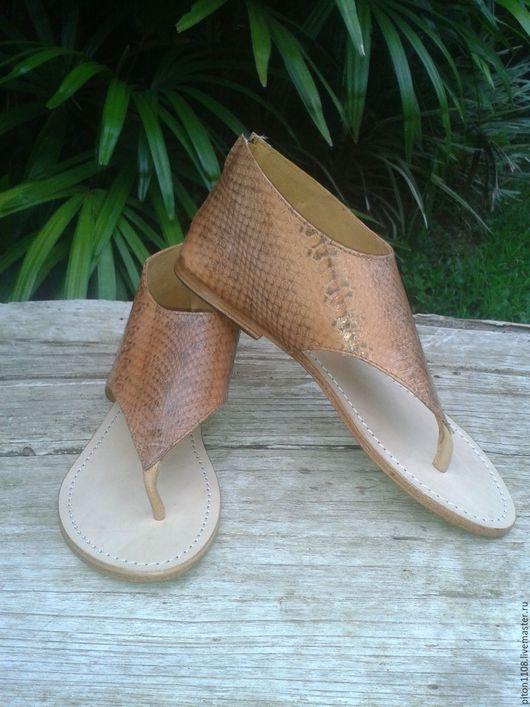 Обувь ручной работы. Ярмарка Мастеров - ручная работа. Купить Сандалии из кожи питона. Handmade. Босоножки, босоножки женские