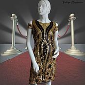 """Одежда ручной работы. Ярмарка Мастеров - ручная работа Платье, расшитое пайетками """"Black and Gold"""". Handmade."""