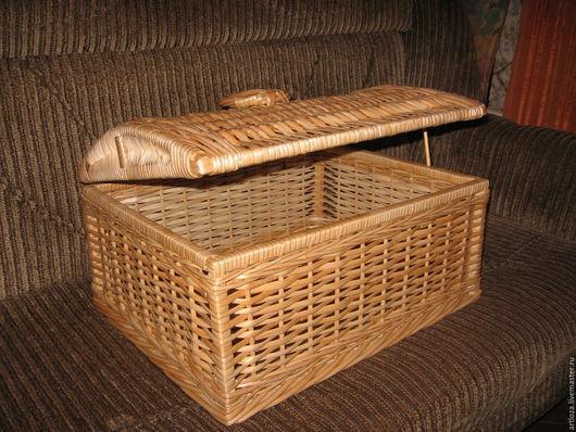 """Корзины, коробы ручной работы. Ярмарка Мастеров - ручная работа. Купить Короб плетеный из лозы, """"Сундук"""" для хранения (корзина,лоток,ящик). Handmade."""