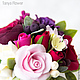 """Интерьерные композиции ручной работы. Букет цветов """"Deep Red"""". Tanya Flower. Ярмарка Мастеров. Флористика, букет роз, ваза"""