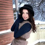 Аксессуары ручной работы. Ярмарка Мастеров - ручная работа Вязаная шляпка-котелок «Style». Handmade.