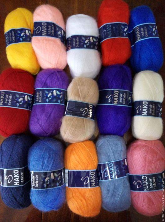 Вязание ручной работы. Ярмарка Мастеров - ручная работа. Купить Пряжа MOHAIR DELICATE  40%мохер, 60% акрил. Handmade. Комбинированный
