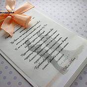 """Свадебный салон ручной работы. Ярмарка Мастеров - ручная работа Приглашение на свадьбу """"Равиль"""". Handmade."""