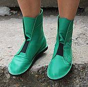 Обувь ручной работы handmade. Livemaster - original item Copy of Espadrilles high suede elastic electric Blue. Handmade.