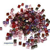Материалы для творчества ручной работы. Ярмарка Мастеров - ручная работа Бисер Miyuki 3 мм куб микс 18 виноградник Vinyard японский бисер Миюки. Handmade.