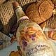 Вазы ручной работы. Ярмарка Мастеров - ручная работа. Купить Бутылка декоративная ЛЕСНАЯ СКАЗКА. Handmade. Оранжевый, декупаж бутылки