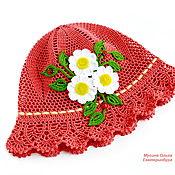 Аксессуары handmade. Livemaster - original item Summer crochet Panama hats for girls