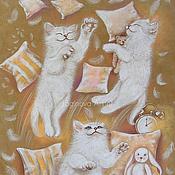 Картины и панно ручной работы. Ярмарка Мастеров - ручная работа Белоснежные непоседы. Handmade.