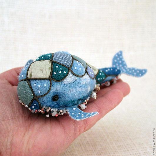 Игрушки животные, ручной работы. Ярмарка Мастеров - ручная работа. Купить Синий кит. Handmade. Синий, шерсть для валяния
