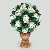 Цветы и флористика handmade. Livemaster - original item Flowers from malachite