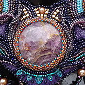 Украшения handmade. Livemaster - original item Embroidered beaded necklace Aysidora. Handmade.