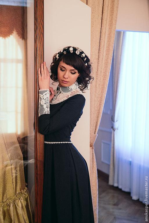 Платья ручной работы. Ярмарка Мастеров - ручная работа. Купить платье черно-белое. Handmade. Платье, платье вечернее