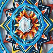 """Картины и панно ручной работы. Ярмарка Мастеров - ручная работа """"Движение с потоком"""" - Индейская мандала Татьяны Сычевой. Handmade."""