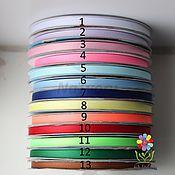 Материалы для творчества ручной работы. Ярмарка Мастеров - ручная работа Лента репсовая 6 мм однотонная 13 цветов. Handmade.