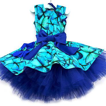 """Одежда ручной работы. Ярмарка Мастеров - ручная работа Платье для девочки """"Стиляги Бабочки"""". Handmade."""