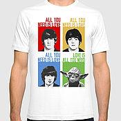 Одежда ручной работы. Ярмарка Мастеров - ручная работа Футболка All You Need Is Love / Beatles / Зведные Войны / 100% хлопок. Handmade.