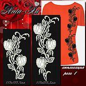 Материалы для творчества handmade. Livemaster - original item Bright roses. Rose 1 (applique).. Handmade.