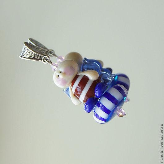 Кулоны, подвески ручной работы. Ярмарка Мастеров - ручная работа. Купить Кулон lampwork Морской ангел. Handmade. Lampwork (лэмпворк)