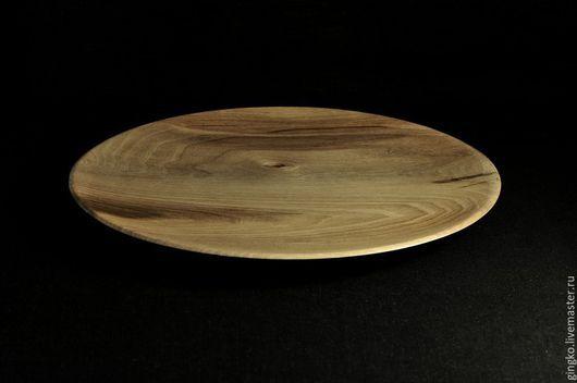 Декоративная посуда ручной работы. Ярмарка Мастеров - ручная работа. Купить Блюдо из дерева. Орех.. Handmade. Коричневый, тарелка из дерева