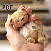 Материалы для творчества ручной работы. Ярмарка Мастеров - ручная работа Выкройка мишки тедди 10 см. Handmade.