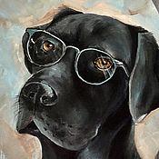Картины и панно ручной работы. Ярмарка Мастеров - ручная работа Картина Лабрадор. Handmade.