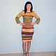 Платья ручной работы. Ярмарка Мастеров - ручная работа. Купить платье меланж. Handmade. Вязаное платье, стиль, одежда вязаная