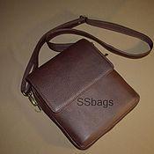 Сумки и аксессуары handmade. Livemaster - original item Small men`s bag tablet genuine leather.. Handmade.