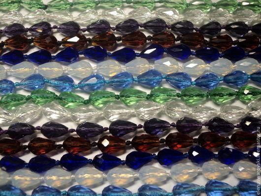 Для украшений ручной работы. Ярмарка Мастеров - ручная работа. Купить Капли под Сваровски 12х7 мм, 16х10 мм.. Handmade.