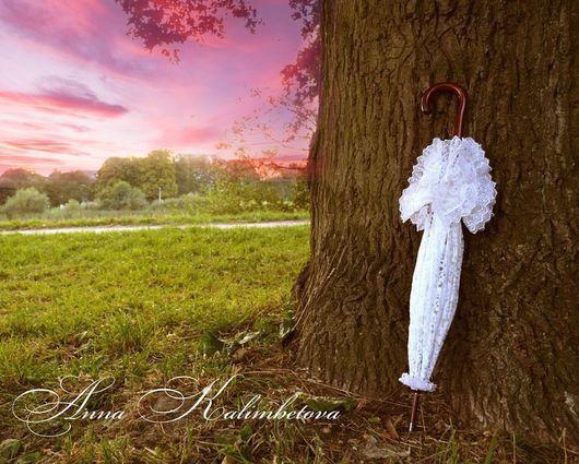 Зонты ручной работы. Ярмарка Мастеров - ручная работа. Купить Винтажный кружевной зонт. Белый. Аренда или на заказ.. Handmade.