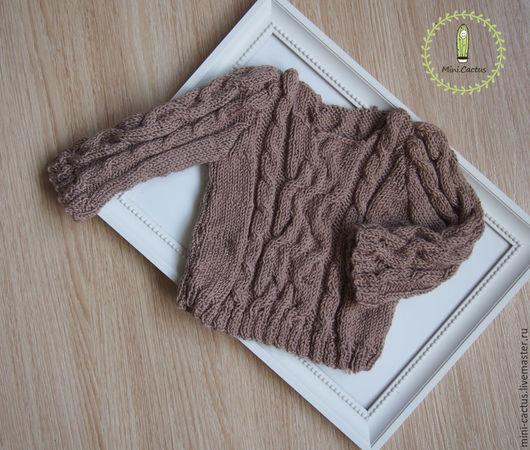 Одежда для девочек, ручной работы. Ярмарка Мастеров - ручная работа. Купить Детский джемпер. Handmade. Бежевый, детский, косы
