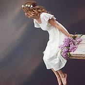 """Свадебный салон ручной работы. Ярмарка Мастеров - ручная работа """"Леля"""" Свадебное платье, связанное крючком в технике филейного кружева. Handmade."""