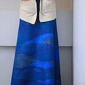 """Одежда ручной работы. Ярмарка Мастеров - ручная работа Валяная юбка """"Немного бирюзового"""". Handmade."""