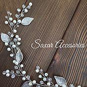 Свадебный салон ручной работы. Ярмарка Мастеров - ручная работа Свадебная веточка с листиками. Handmade.