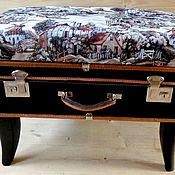 Элементы интерьера ручной работы. Ярмарка Мастеров - ручная работа Пуфик-чемодан. Handmade.