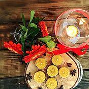 Свечи ручной работы. Ярмарка Мастеров - ручная работа Чайные свечи из вощины в гильзе. Handmade.