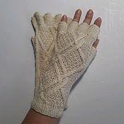 Аксессуары handmade. Livemaster - original item Purest wool mittens Irina. Handmade.