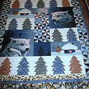 """Одеяла ручной работы. Ярмарка Мастеров - ручная работа Одеяло-покрывало """"Волки"""". Handmade."""