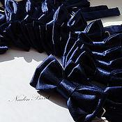 Аксессуары handmade. Livemaster - original item Tie Dark blue Satin notes. Handmade.