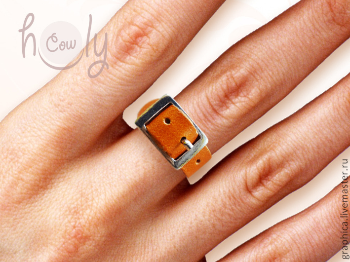Как сделать кольца из кожи