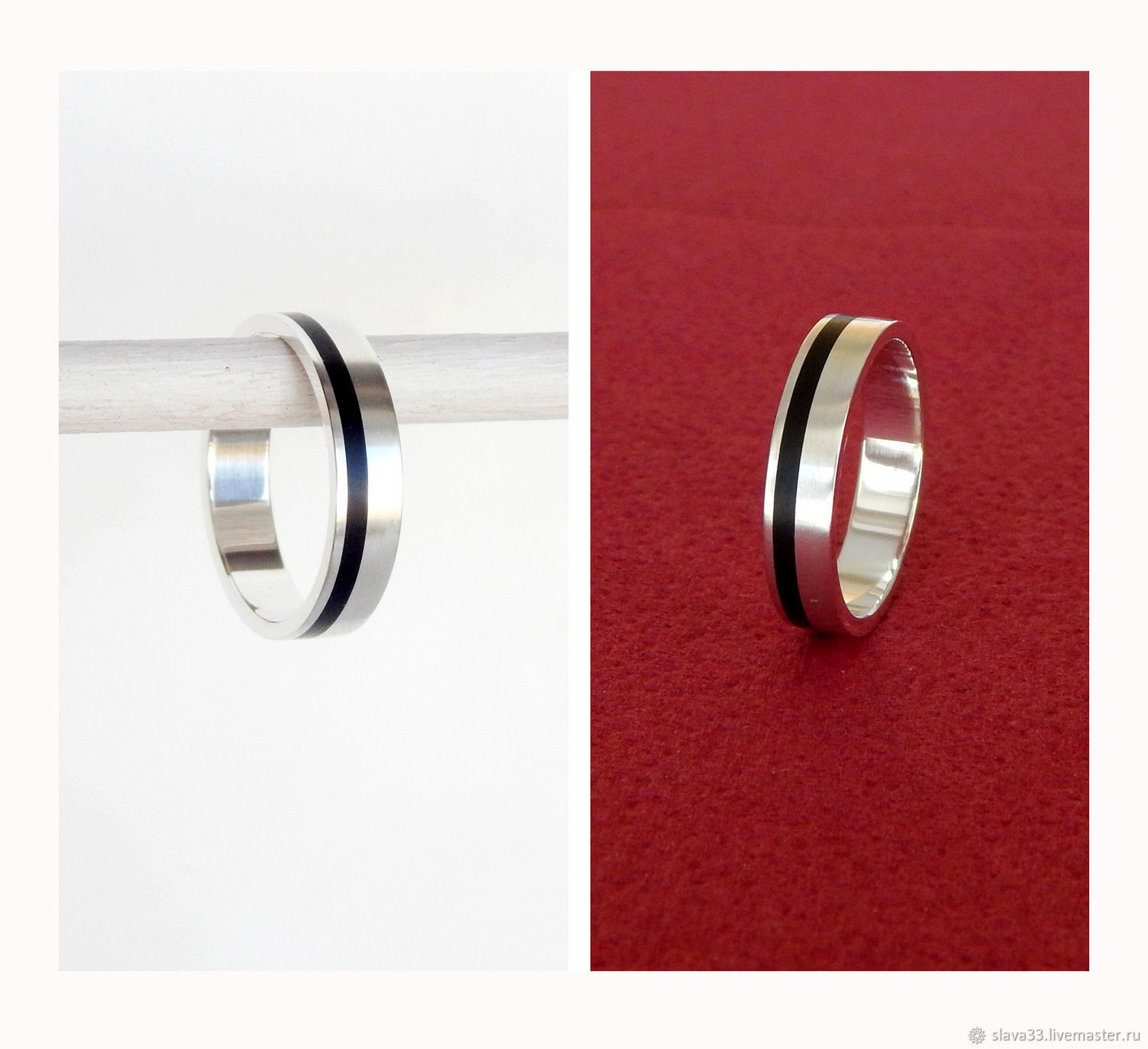 Silver ring with jet, Rings, Vladimir,  Фото №1