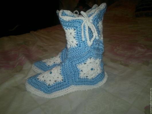 Обувь ручной работы. Ярмарка Мастеров - ручная работа. Купить домашние сапожки. Handmade. Комбинированный, подарок женщине, красота
