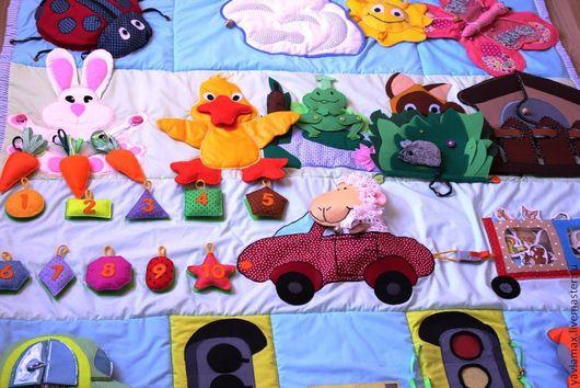Развивающие игрушки ручной работы. Ярмарка Мастеров - ручная работа. Купить Развивающий коврик Котенок Гав. Handmade. Развивающий коврик