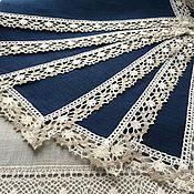 Для дома и интерьера handmade. Livemaster - original item Set linen napkins Night sky 6-piece. Handmade.